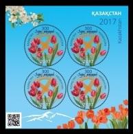 Kazakhstan 2017 Mih. 1023 (Bl.91) Nauryz. Flora. Flowers. Tulips MNH ** - Kazakhstan