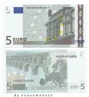 5 EURO  TRICHET E SLOVACCHIA E010.. UNC  NUMERAZIONE MOLTO RARA - EURO