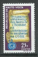 Haute-Volta YT N°130 Déclaration Universelle Des Droits De L'homme Neuf ** - Haute-Volta (1958-1984)