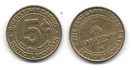 Greektown Casino Detroit MI 5 Cent Token - Casino