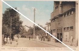 VERT GALANT (Seine Saint Denis) - Le Cinéma Du Vert Galant - Avenue Du Chemin De Fer - Animée - Otros Municipios