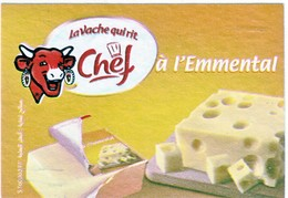 """Algérie - 1 étiquette De Fromage """"Vache Qui Rit Chef"""" à L'emmental. - Fromage"""