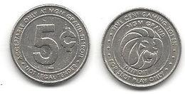 MGM Grand Casino Detroit MI 5 Cent Token - Casino