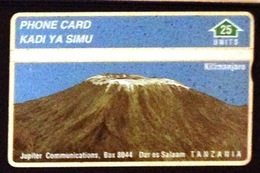 Tanzania. Kilimanjaro By 25 Units- Used Phone Card - Tanzania