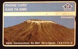 Tanzania. Kilimanjaro By50 Units- Used Phone Card. - Tanzania