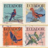 Ecuador  645-8    (o)  BIRDS - Ecuador