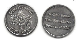 Saint Anthony Token - A Gift From The Franciscan Friars, O.F.M. - Unclassified