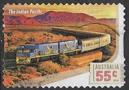 Australia 2010 Railway Journeys 55c Type 1 Self Adhesive Good/fine Used [13/13594/ND] - 2010-... Elizabeth II