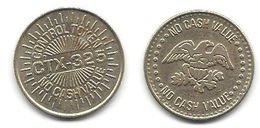 CTX-325 Control Token - No Cash Value - Tokens & Medals