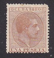 Cuba, Scott #93, Mint Hinged, King Alfonso XII, Issued 1880 - Cuba (1874-1898)