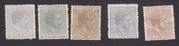 Cuba, Scott #91, 94, 96-98, Mint Hinged, King Alfonso XII, Issued 1881-82 - Cuba (1874-1898)