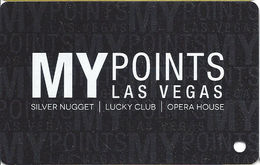 Fifth Street Gaming / Silver Nugget, Lucky Club & The Opera House Casinos - Las Vegas, NV - BLANK Slot Card - Casino Cards