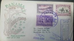 O) 1956 PANAMA, DON QUIXOTE ATTACKING WINDMILL-MIGUEL DE CERVANTES SAAVEDRA NOVELIST PLAYWRIGHT AND POET, VICTOR DE LA G - Panama