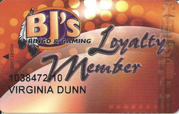 BJ's Bingo & Gaming - Fife, WA - Casino Slot Card - Casino Cards