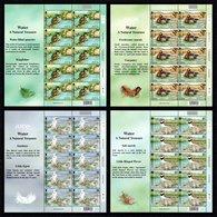 GUERNSEY 2001 EUROPA/Water Birds: Set Of 4 Sheets UM/MNH - Guernesey