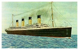 R.M.S. Titantic , White Star Line  , Artist Drawn - Steamers