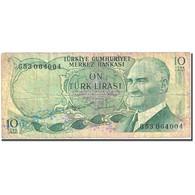 Billet, Turquie, 10 Lira, 1966-1969, 1966-07-04, KM:180, TB - Turquie