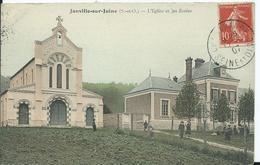 JANVILLE SUR JUINE - L'église Et Les écoles - France