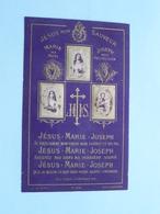 Jésus Mon SAUVEUR ( Marie Ma Mère - Joseph Mon Protecteur ) ( N° 302 - Dopter / Zie Foto's ) ! - Religion & Esotérisme