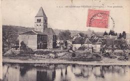 SAINT LEON SUR VEZERE EN DORDOGNE VUE GENERALE    CPA  CIRCULEE - France