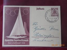 Carte Entier Postal Illustre 1936 (jeux Olympiques 1936) - Briefe U. Dokumente