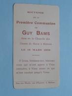 1 Communion GUY BAMS Dames De Marie à MALINES Le 19 Mars 1938 ( Zie Foto's ) ! - Communion