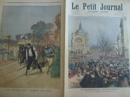 Le Petit Journal 24 Mars 1895 227 Manifestation Patriotique Madagascar Course Des Jambes De Bois Nogent Sur Marne - 1850 - 1899