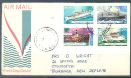 PAPUA NEW GUINEA -  FDC  - 21.1.1976 - SHIPS - Yv 297-300 -  Lot 17713 - Papouasie-Nouvelle-Guinée