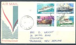 PAPUA NEW GUINEA -  FDC  - 21.1.1976 - SHIPS - Yv 297-300 -  Lot 17713 - Papua New Guinea