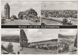 Auersberg - S/w Mehrbildkarte 7   Großbildkarte - Auersberg