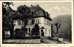 Cp Hartmannswiller Hartmannsweiler Elsass Haut Rhin, Restaurant August Wührlin - France