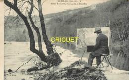 54 Liverdun, Alfred Renaudin, Paysagiste, Artiste Peintre Devant Son Chevalet - Liverdun