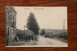 Tenneville, Baconfoy, Hôtel GOSSELIN Et Gare Station Du Tram Vicinal Marche En Famenne Bastogne - Tenneville