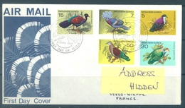 PAPUA NEW GUINEA -  FDC  - 6.6.1977 - PIGEONS - Yv 323-327 -  Lot 17714 - Papouasie-Nouvelle-Guinée