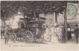 CARTE POSTALE   PARIS   Départ Pour Les Courses - Nahverkehr, Oberirdisch