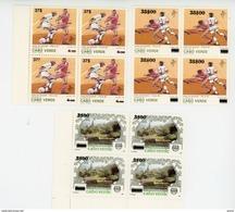 Cap Vert-Cabo Verde-1997-Football Italie-Timbres Surchargés Nouvelles Valeurs-694/6***mnh- = 4 Séries - Kap Verde