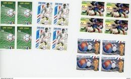 Cap Vert-Cabo Verde-1998-Coupe Du Monde De Foot En France-YT 711/14***MNH-en Bloc De 4 - Cap Vert