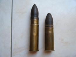 Lot Obus 37 Mm - Militaria