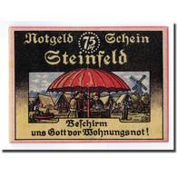 Billet, Allemagne, Steinfeld Gemeinde, 75 Pfennig, Ecusson, O.D, SPL - Other