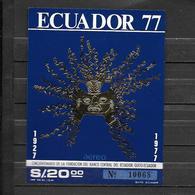 Ecuador 1977  50 Anni Della Banca Centrale Dell'Ecuador  Foglietto Nuovo/mnh** - Ecuador