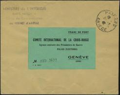 Lettre N° 7A, L Non Affranchie Càd Pamiers 30.3.42, Cachet Du Camp De Concentration De Vernet D'Ariège, étiquette Vert F - Timbres