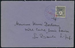 Lettre 5f Arc De Triomphe Surchargé Festung Lorient Sur L Obl 9 Mars 1945 Pour La Baule, Cachet D 'arrivée Au Verso, Sup - Timbres