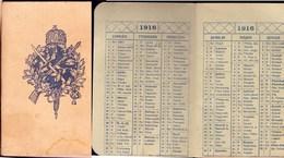 WAR  CALENDAR - 1916 - Calendars