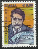 ITALIA REPUBBLICA ITALY REPUBLIC 2010 ENNIO FLAIANO € 0,60 USATO USED OBLITERE' - 6. 1946-.. Republic