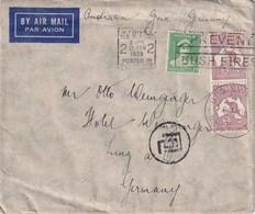 AUSTRALIE 1939 LETTRE DE SYDNEY POUR LINZ OUVERTE PAR LA DOUANE DE LINZ POUR CPNTROLE DES DEVISES - Covers & Documents