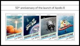 SIERRA LEONE 2018 MNH** Apollo 8 Space Raumfahrt Espace M/S - OFFICIAL ISSUE - DH1829 - Space