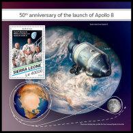 SIERRA LEONE 2018 MNH** Apollo 8 Space Raumfahrt Espace S/S - OFFICIAL ISSUE - DH1829 - Space