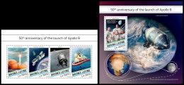 SIERRA LEONE 2018 MNH** Apollo 8 Space Raumfahrt Espace M/S+S/S - OFFICIAL ISSUE - DH1829 - Space