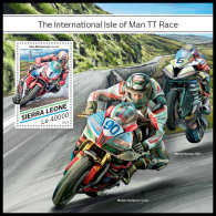 SIERRA LEONE 2018 MNH** Isle Of Man TT Race Motorcycles Motorräder Motos S/S - IMPERFORATED - DH1829 - Moto