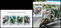 SIERRA LEONE 2018 MNH** Isle Of Man TT Race Motorcycles Motorräder Motos M/S+S/S - IMPERFORATED - DH1829 - Moto